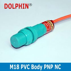 M18 DC inductive Proximity Switch Sensor sn: 8 mm PNP NC PVC Body make – Dolphin
