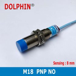 M18 DC inductive Proximity Switch Sensor sn: 8 mm PNP NO   make – Dolphin