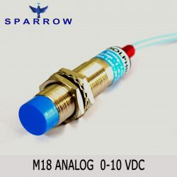 M18 Analog Proximity Switch 0-10 VDC Output Sn : 0-8 mm
