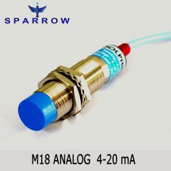 M18 Analog Proximity Switch 4-20 mA Output Sn : 0-8 mm